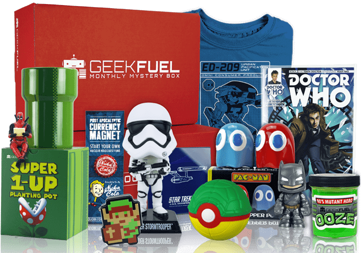 Try geek fuel subscription box today!